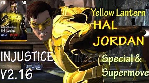 Yellow Lantern Hal Jordan Supermove