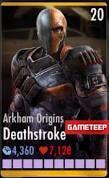 Arkham Origins Deathstroke Card