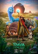 Disney's Raya and the Last Dragon Italian Poster