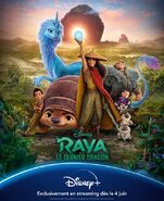 Disney's Raya and the Last Dragon European French Poster