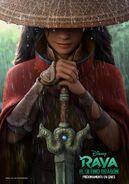 Disney's Raya and the Last Dragon European Spanish Teaser Poster
