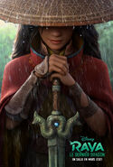 Disney's Raya and the Last Dragon Canadian French Teaser Poster