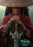 Disney's Raya and the Last Dragon Danish Teaser Poster