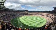 2017 AFL Grand Final panorama during national anthem