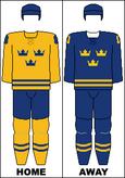 Sweden national hockey team jerseys - 2014 Winter Olympics.png