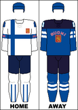 Finland national hockey team jerseys - 2014 Winter Olympics.png