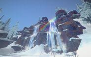 HRV waterfall rainbow