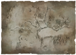 Hushed river valley charcoal map