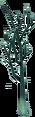 Green birch sapling growing