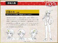 Towa Higurashi - Ficha de diseño de animacion