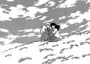 Inuyasha and kagome watched the sky.jpg