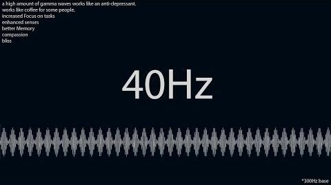Isochronic- 40Hz gamma @ 300Hz - focus, consciousness, learning, bliss, compassion