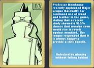 Carta del profesor membrana en mlb