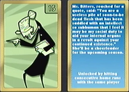 Carta de la señorita bitters en mlb