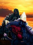 Godzilla vs Space Godzilla by DragonosX-1-