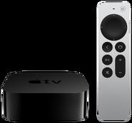 Apple TV 4K 2nd front Siri-silver