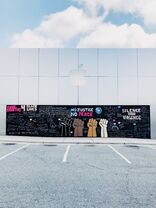 Apple Friendly Center boarded 2020-06-05 mural