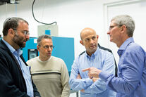 Johny Srouji and Tim Cook in Israel