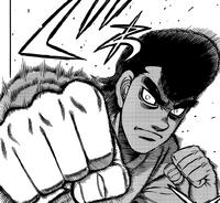 Takamura Mamoru Demonstrating his Straight