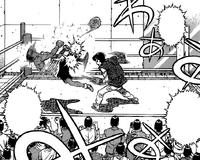 Takamura Knocking Out Sparring Partner