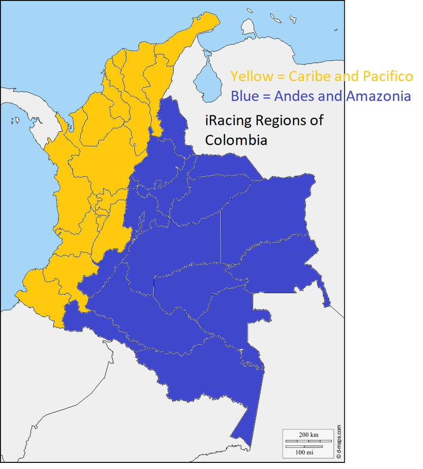 Colombia iRacing Regions.png