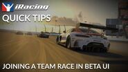 IRacing Quick Tips Join a Team Race in BETA UI