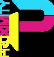 ProximityRacing Logo Bright Blue Dark