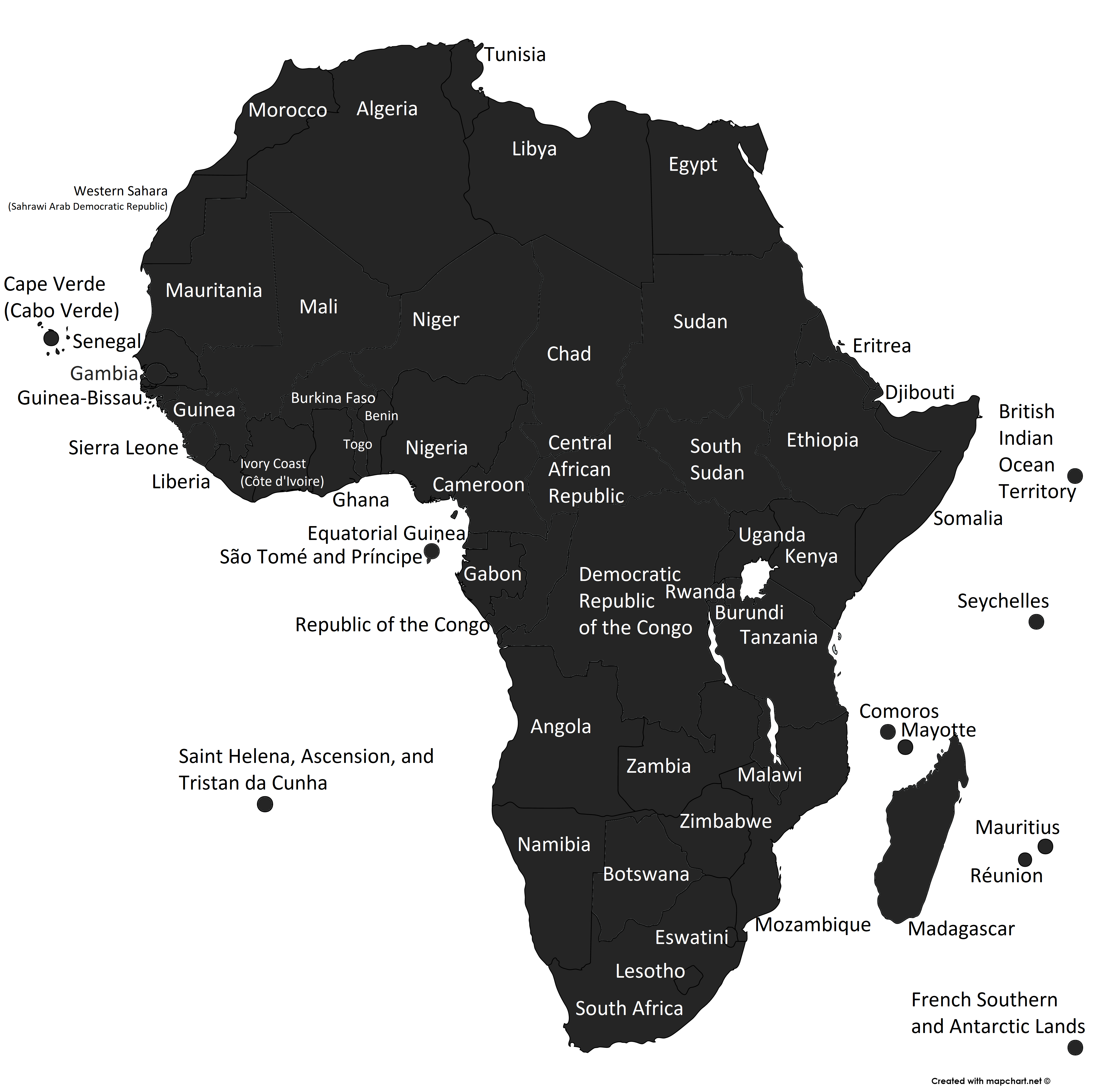 Africa Global Map