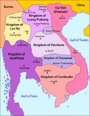 Laos - Division territòriala vèrs 1750 (vuege).png