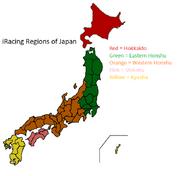 IRacing Regions of Japan