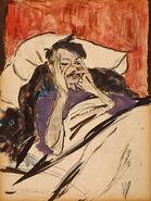 Robert Henri in Bed