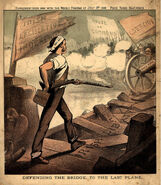 1882-07-08 O'Hea Defending the Bridge to the Last Plank