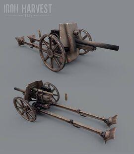Anti-Mech Cannon art - Iron Harvest