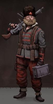 Rusviet Machine Gunner