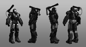 War machine 3d multiple views by shuyab-d3av6cs