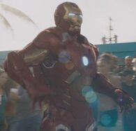Anthony Stark (Earth-199999) with Iron Man Armor MK VII (Earth-199999) from Iron Man 3 (film) 001