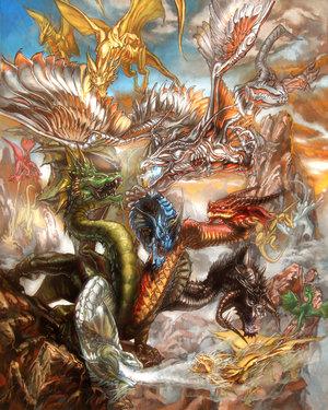 Dnd bahamut gold dragon golden halla trespasser dragon