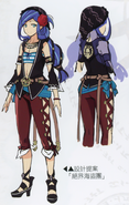 Dana - Deserted Pirate Design