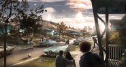 Concept art Fallout 4 - Esplosione