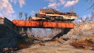 Fallout 4 Treno deragliato