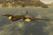 B-29 floating