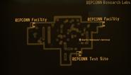 REPCONN test site lab map