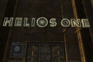 Helios One sign