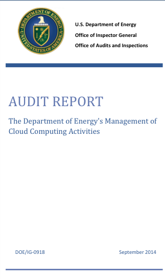 The Department of Energy's Management of Cloud Computing Activities: Audit Report