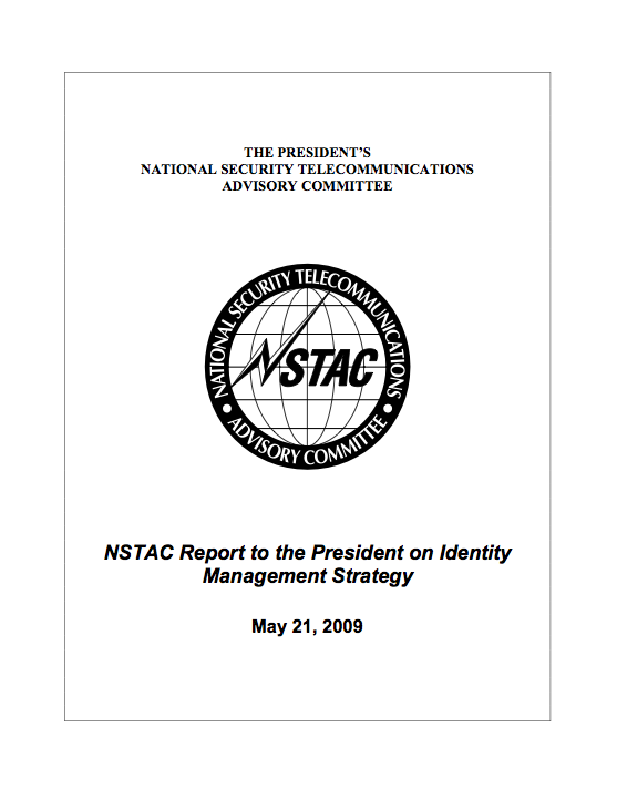 NSTAC Report to the President on Identity Management Strategy
