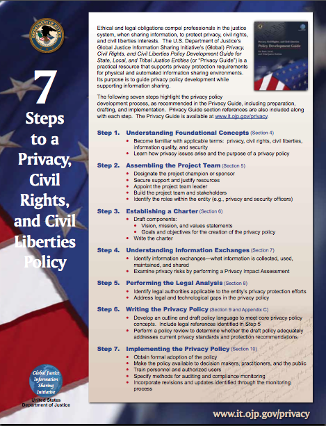 7 Steps to a Privacy, Civil Rights, and Civil Liberties Policy
