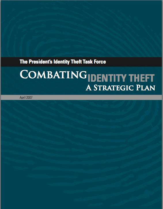 Combating Identity Theft: A Strategic Plan