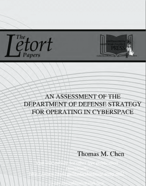 An Assessment of the DoD Strategy for Operating in Cyberspace