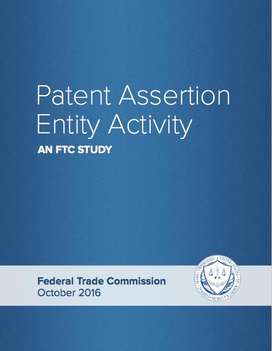 Patent Assertion Entity Activity: An FTC Study