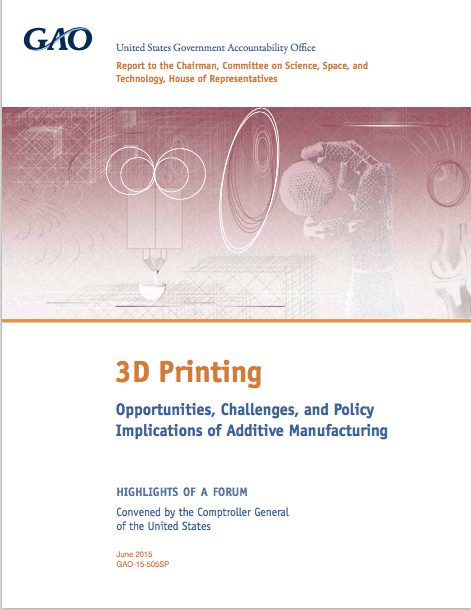 3D Printing: Opportunities, Challenges, and Policy Implications of Additive Manufacturing